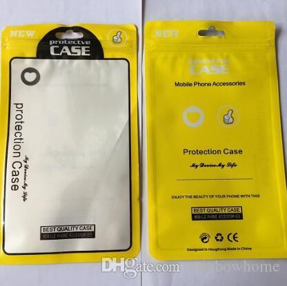 zip bloqueio de plástico Zipper saco Retail OPP Box Package Bolsa para iPhone XS Max 8 7 Plus Samsung S8 S9 Phone Case capa de couro