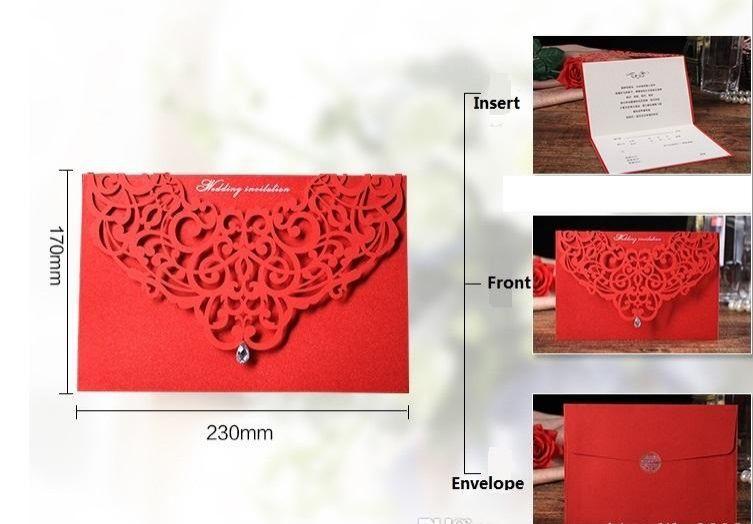 Professional Design Korean Creative Wedding Invitation Upscale Atmosphere Diamond Inlaid Wedding Invitation Cards Customized Card Low Price Wedding