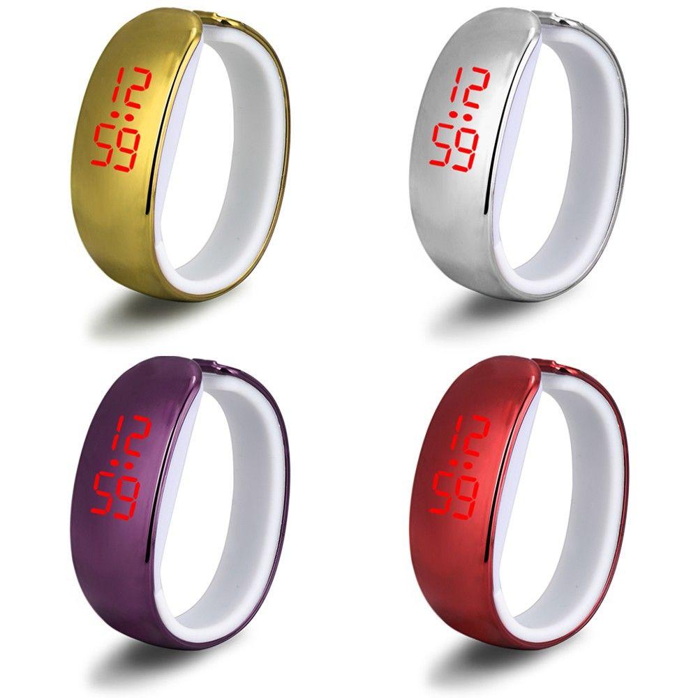 Новая мода женские часы светодиодные часы браслет дамы цифровой Спорт наручные часы горячие часы Бесплатная доставка
