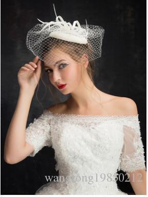 NEW Wedding party bride veil headpieces the bride hat headdress flower bud silk gauze feast stage performance Adult Ceremony Hair Acc