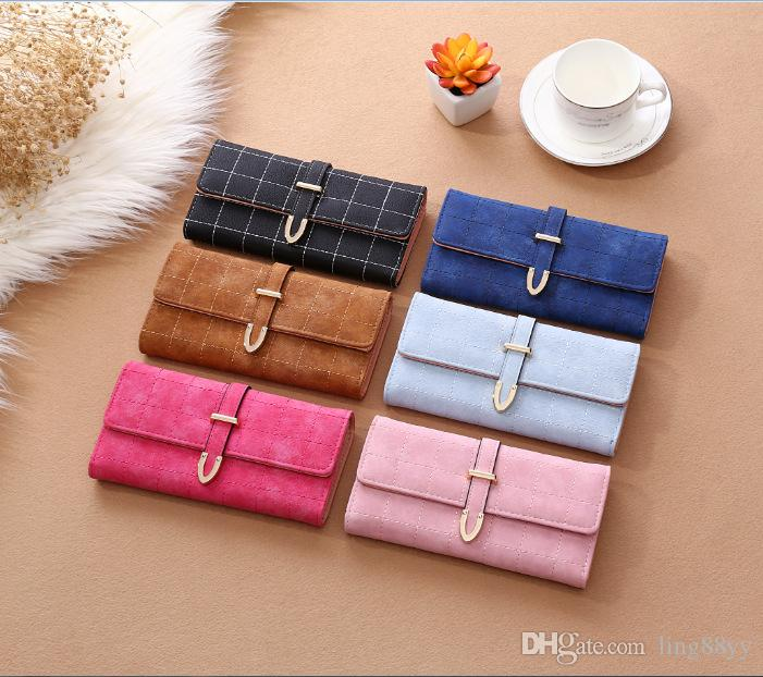 Wholesale Frosting Ling Lady's Long Purse Elegant New Wallets Women Wallet Pylon Print Card Holder Wallet Purse Wallets And Coin Purses