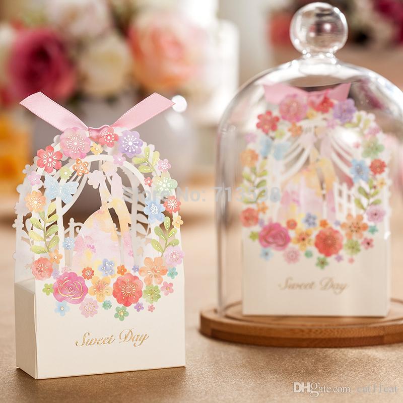 Mariée et le marié mariage boîte de faveur fleur boîte-cadeau décoration de mariage mariage mariée et le marié boîte de bonbons partie fournitures