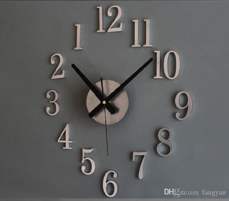Мода творческого разворота часов. Время назад текстуры металла действительно 3D стерео diy настенные часы