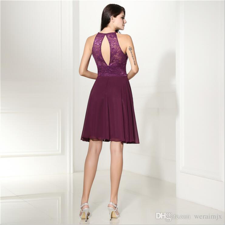 Großhandel Kurzes Kleid Homecoming Kleider Für Jugendliche Chiffon ...