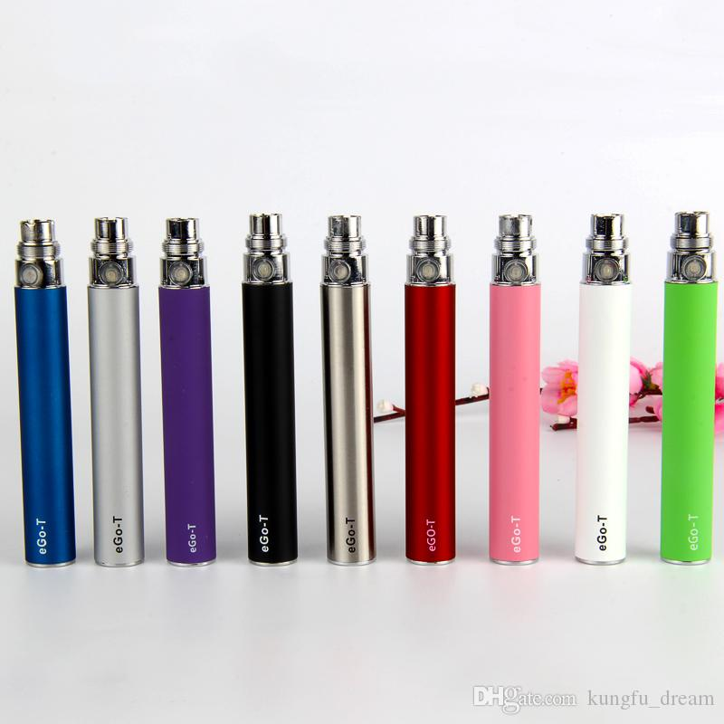 factory price genuine EGO Battery for Electronic Cigarette E-cig Ego-T 510 Thread match CE4 atomizer CE5 clearomizer CE6 650mah 9 Colors