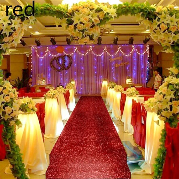 Fashion Wedding Decor Pearlescent Carpet 14 M Wide Shiny Aisle