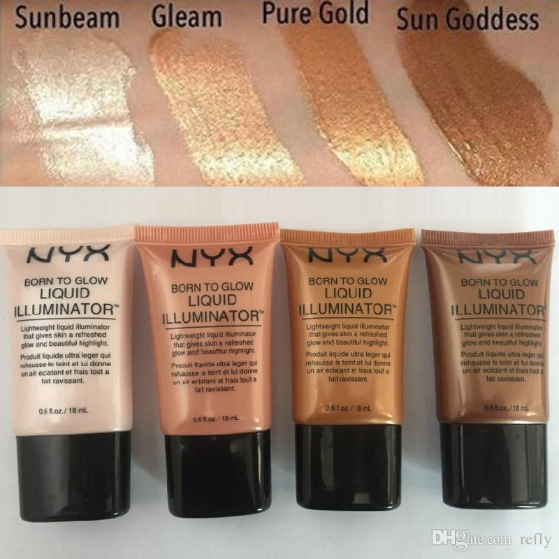 NYX Liquid Foundation Face Concealer Makeup Born To Glow Liquid Illuminator BB Cream Make Up Cosmetici in polvere 18ml DHL libero