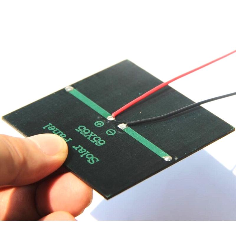 BUHESHUI 0.6W 5.5V Solar Cell Polycrystalline Solar Panel DIY Solar Charger For 3.7V Battery+Cable/Wire Education Kits Epoxy 10pcs/lot