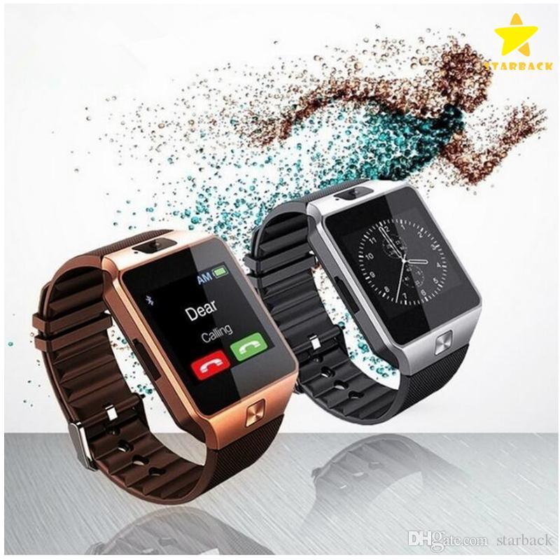 DZ09 Smart Watch Bluetooth Wristbrand Android Smart SIM Montre intelligente pour téléphone mobile avec caméra pouvant enregistrer le package de vente au détail en mode veille