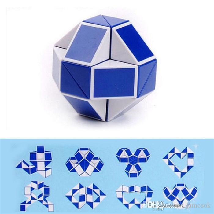 Criativo Mágica Cobra Forma Toy Game Puzzle Cubo 3D Torção Puzzle Brinquedo de Presente Inteligente Inteligência Brinquedos Educativos Enigma Magic b936