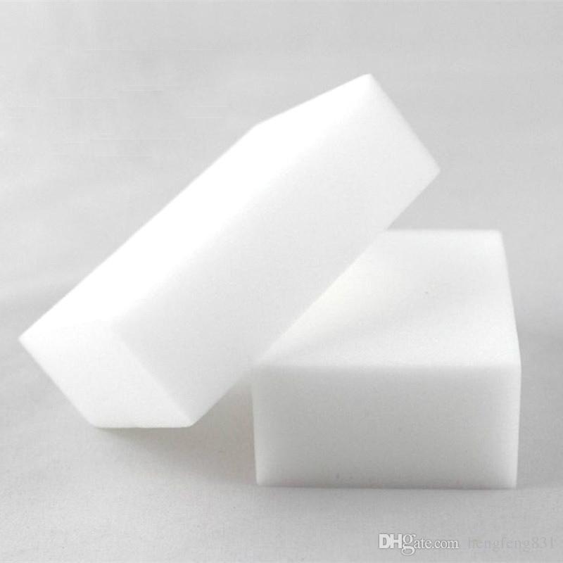 100 Unids Esponja Mágica Blanco Melamina Esponja Borrador Para el teclado Cocina del coche Baño de Limpieza Melamina Limpia Alta Desity 10x6x2 cm