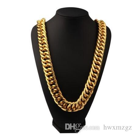 """35"""" Hip Hop Empire Chunky 26mm Solid Cuban Curb Link Chain Necklace Mens Gifts"""