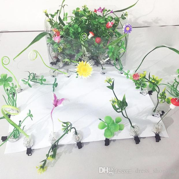 Sell Meng artifact grass hairpin head hair ornaments Christmas Eve gift luminous hair jewelry wholesale jewelry