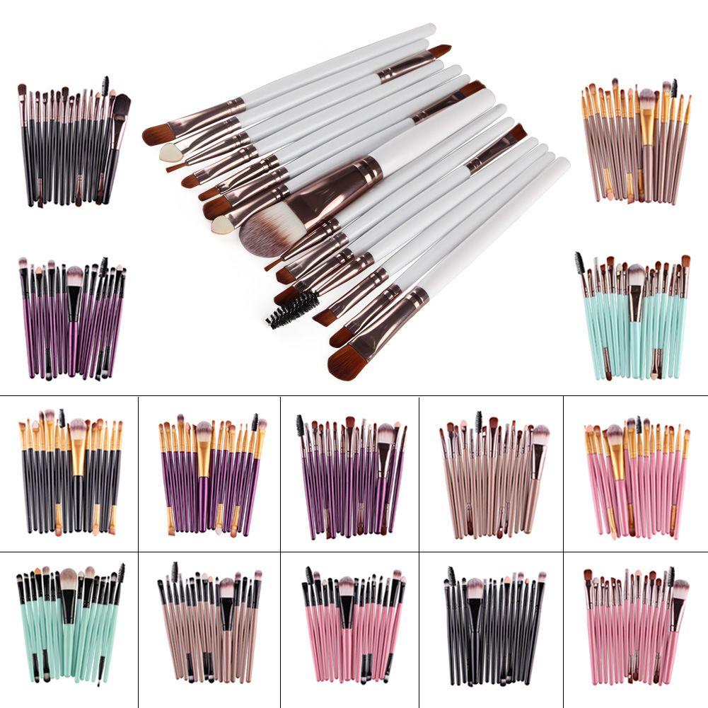 Heißer verkauf 15 Stücke Professionelle Make-up Pinsel Set Foundation Rouge Puder Lidschatten Blending Augenbrauen Make-Up Pinsel