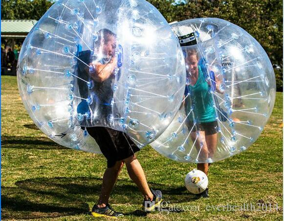 New Design Safty Environmental Protection 0.8mm PVC 1.5m Air Bumper Ball Body Zorb Ball Bubble Football Bubble Soccer Zorb Ball For Adult Or