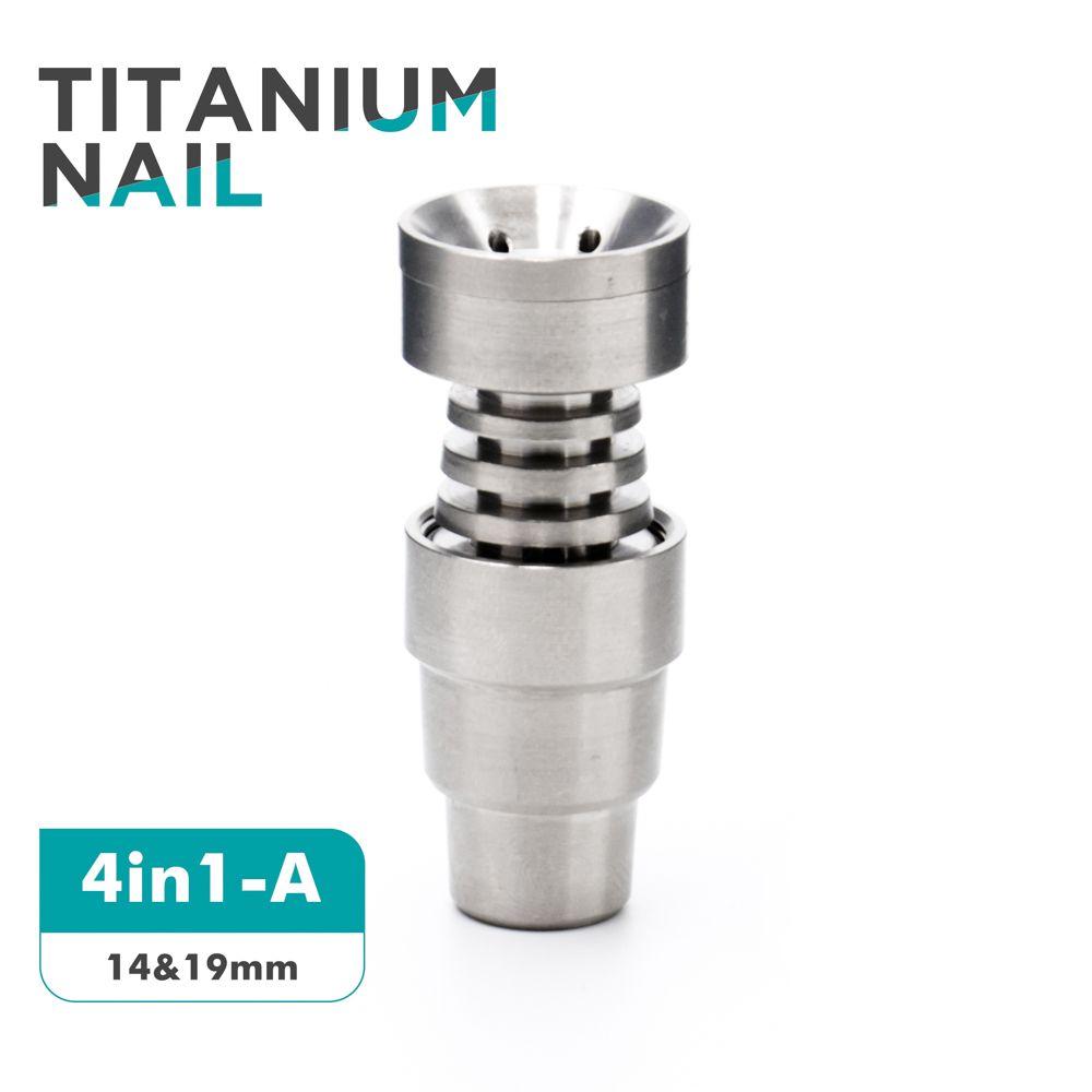 Evrensel Titanyum Tırnak 10mm14mm19mm GR2 Kubbesiz Titanyum Tırnak Eklemler Kubbesiz Titanyum Tırnak Su borusu Sigara Borular Cam ...