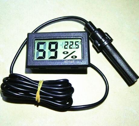 Freeshipping 100 adet / grup Dijital Mini LCD Dijital Termometre Higrometre Buzdolabı Dondurucu Sıcaklık Nem Inkübatörü Metre