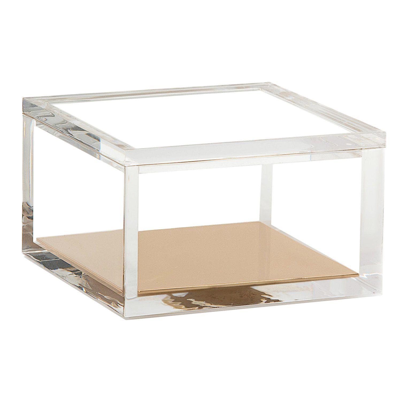 Golden Mirror Acrylic Organizer Clear Plexigass для хранения хранения