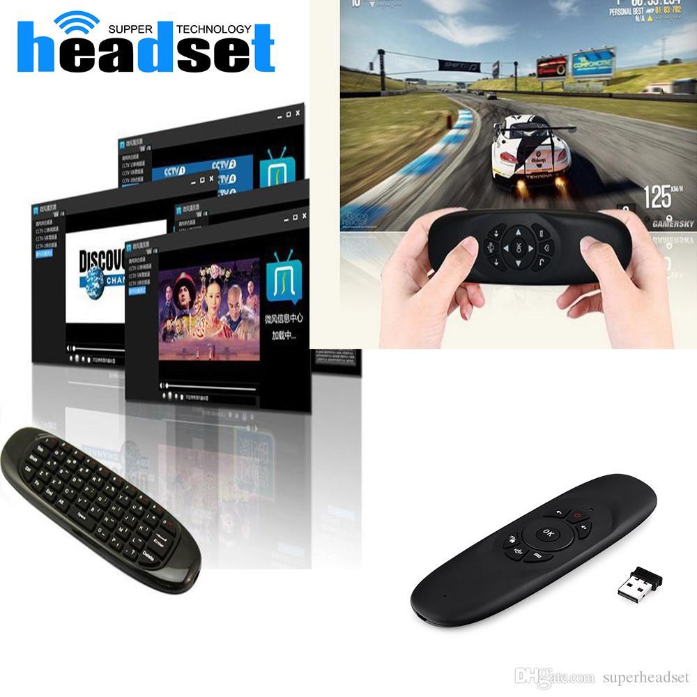 Fly Air Mouse H2 Wireless Keyboard Spiele Android-Fernbedienung Gravity Wiederaufladbare 2,4-GHz-Tastatur für Smart TV Box