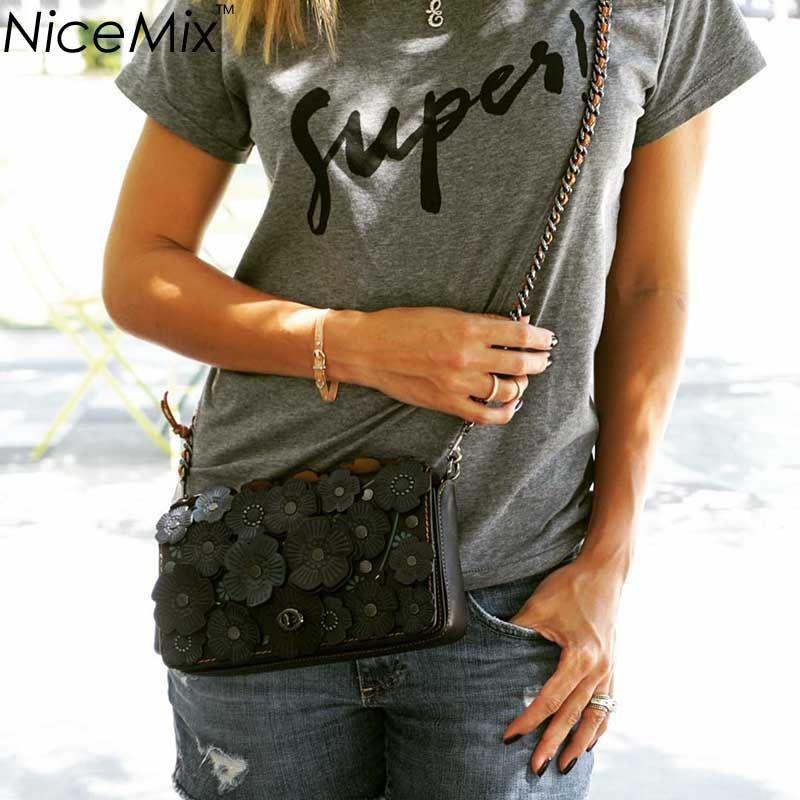 Wholesale-NiceMix  New Summer T shirt Fashion SUPER Top  T-shirt American Womans T shirt Short Tops Cropped T Shirt Femme
