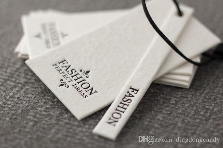1Set Preisetiketten Preisschild Etikette Tags Kraftpapier Weiß 10cm
