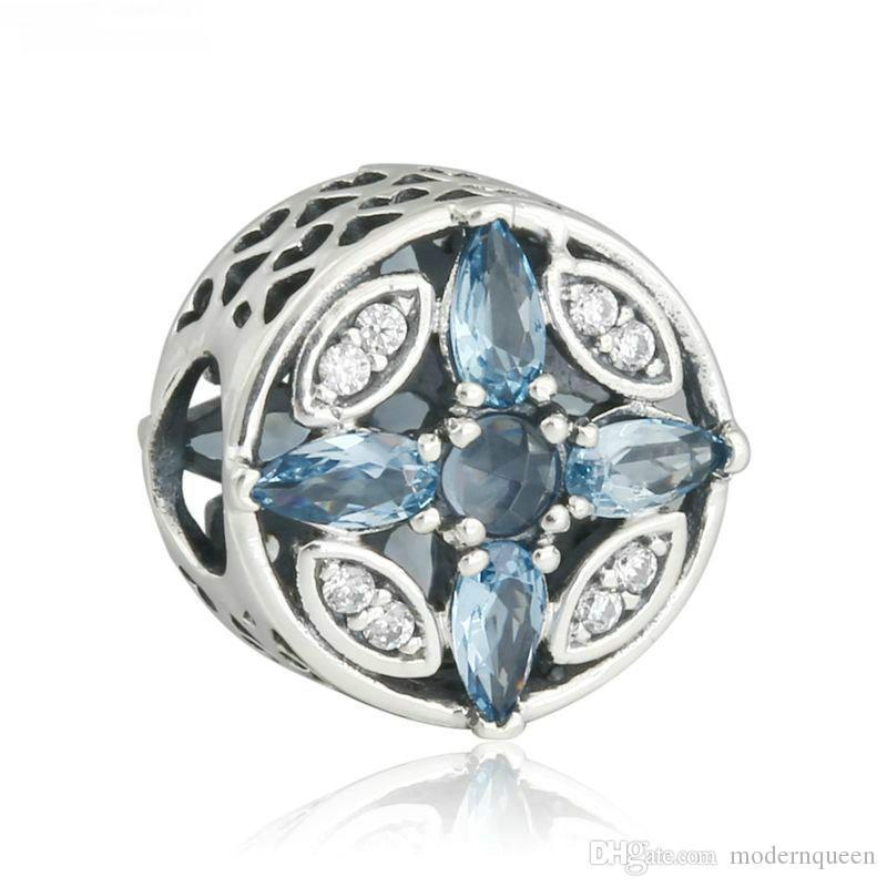 Frost Charms Authentische S925 Sterling Silber Perlen passt Original Marke Schmuck Armbänder 792012CZ
