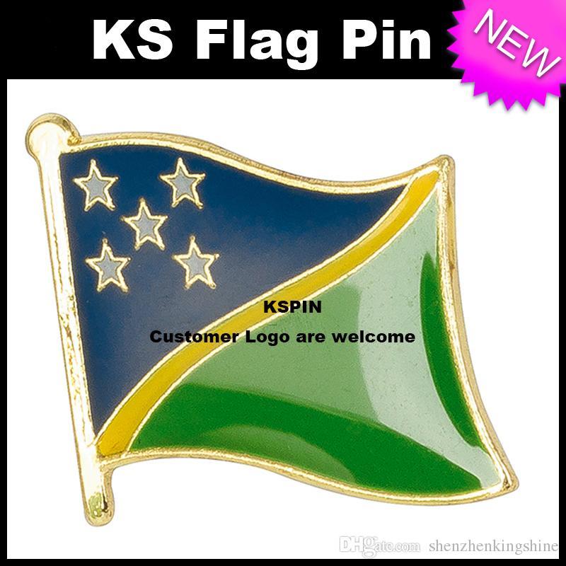 Pin 10pcs della bandiera del distintivo della bandiera delle Isole di Solomon molto trasporto libero KS-0169