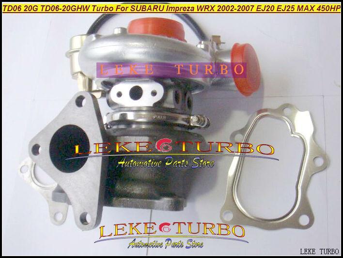 TD06 20G TD06-20GHW Turbo Turbocharger for SUBARU Impreza WRX 2002-2007 MAX HP 450HP Engine EJ20 EJ25 (3)