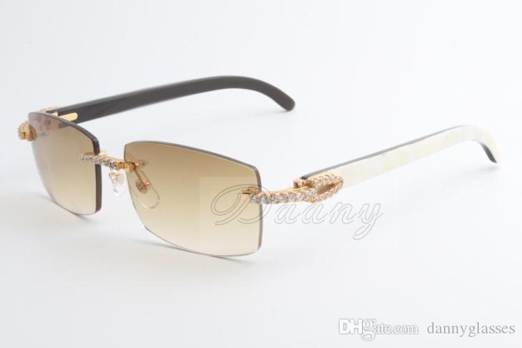 2019 New Selling Limited Grande Diamante Sunglasses Masculino e Feminino Chifres mistos Óculos de sol 3524012 (2) Tamanho: 56-18-135mm