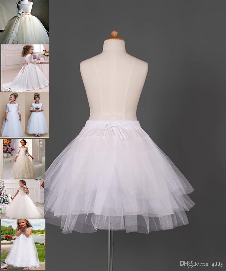 Girls' Petticoats flower girls dresses for weddings Girls' Petticoats white dresses for communion Hot Selling Kids' Accessories