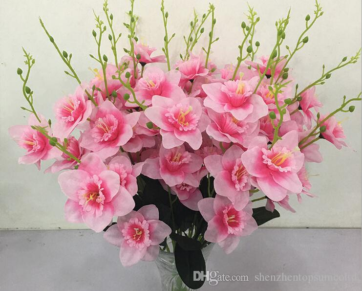 Narciso artificiale Fiori Simulazione Daffodils 5 steli per la decorazione domestica centrotavola per matrimoni