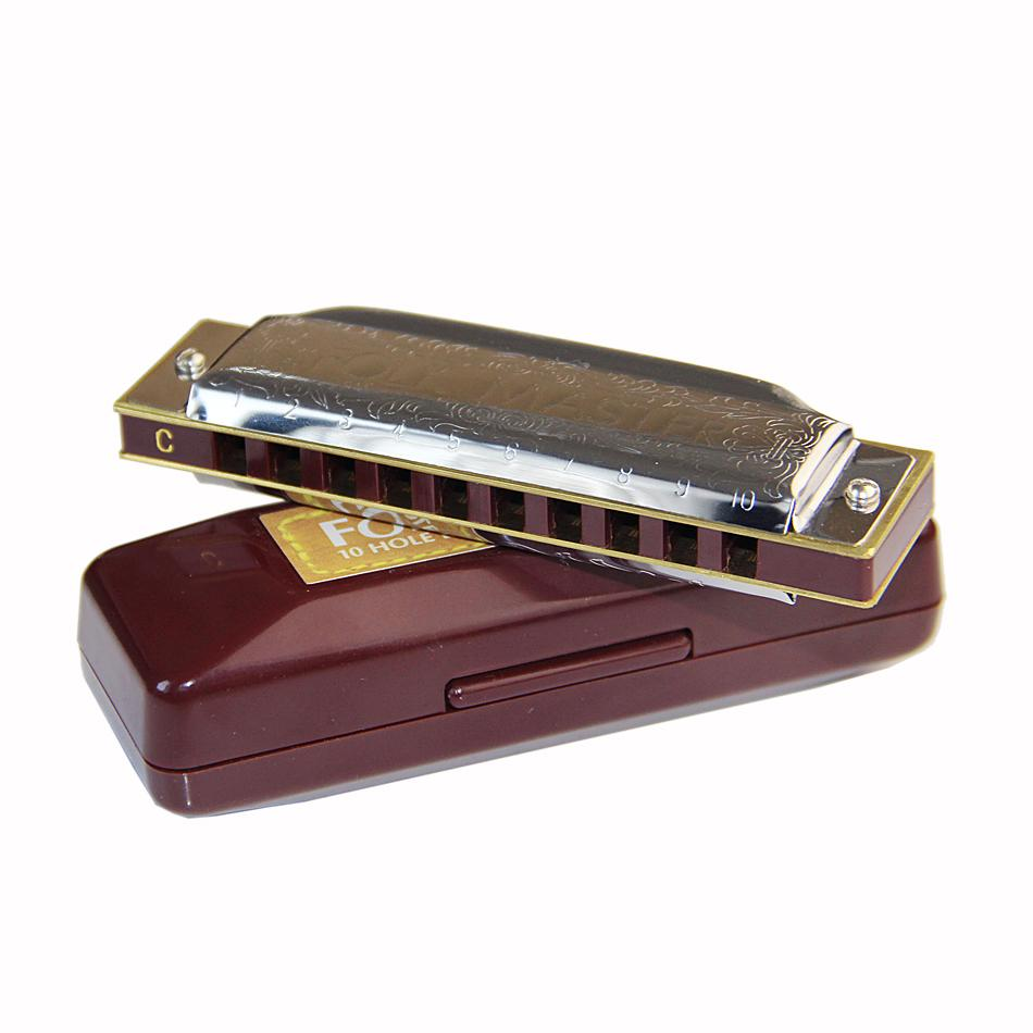 Suzuki FolkMaster Diatonic 10-Hole Harmonica Key of C 1072