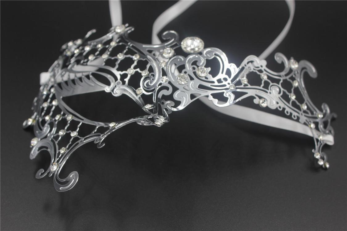Masquerade Mark Gold Metal Halloween Party Mask Phantom Opera ...