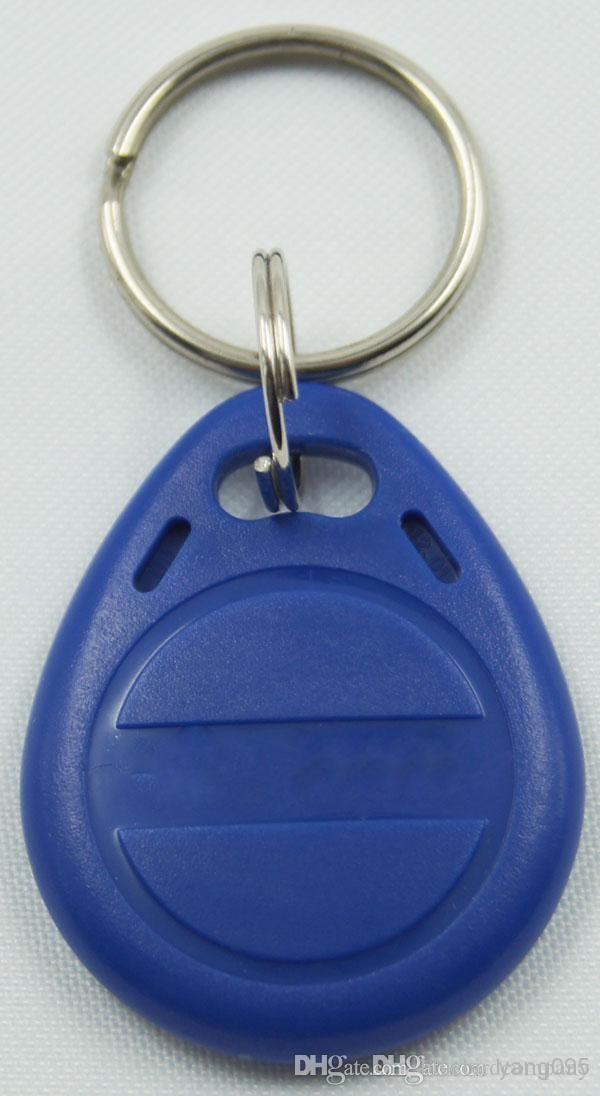 100 قطعة / الوحدة تتفاعل مفتاح fobs 125 كيلو هرتز القرب abs مفتاح الكلمات كتابة علامات للكتابة التحكم في الوصول مع رقاقة EM4305