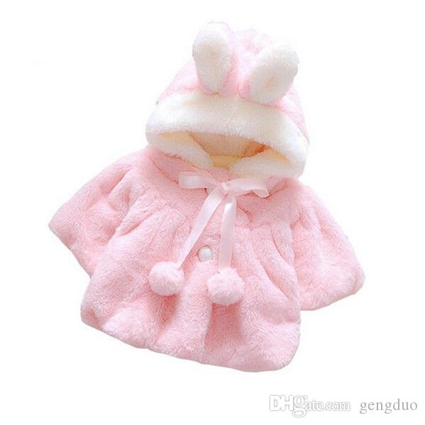Chic Baby Princess Girls Party Jacket Faux Fur Fleece Cloak Toddler Clothes Winter Warm Cape Coat 1-4Y Infant Kids Outwear