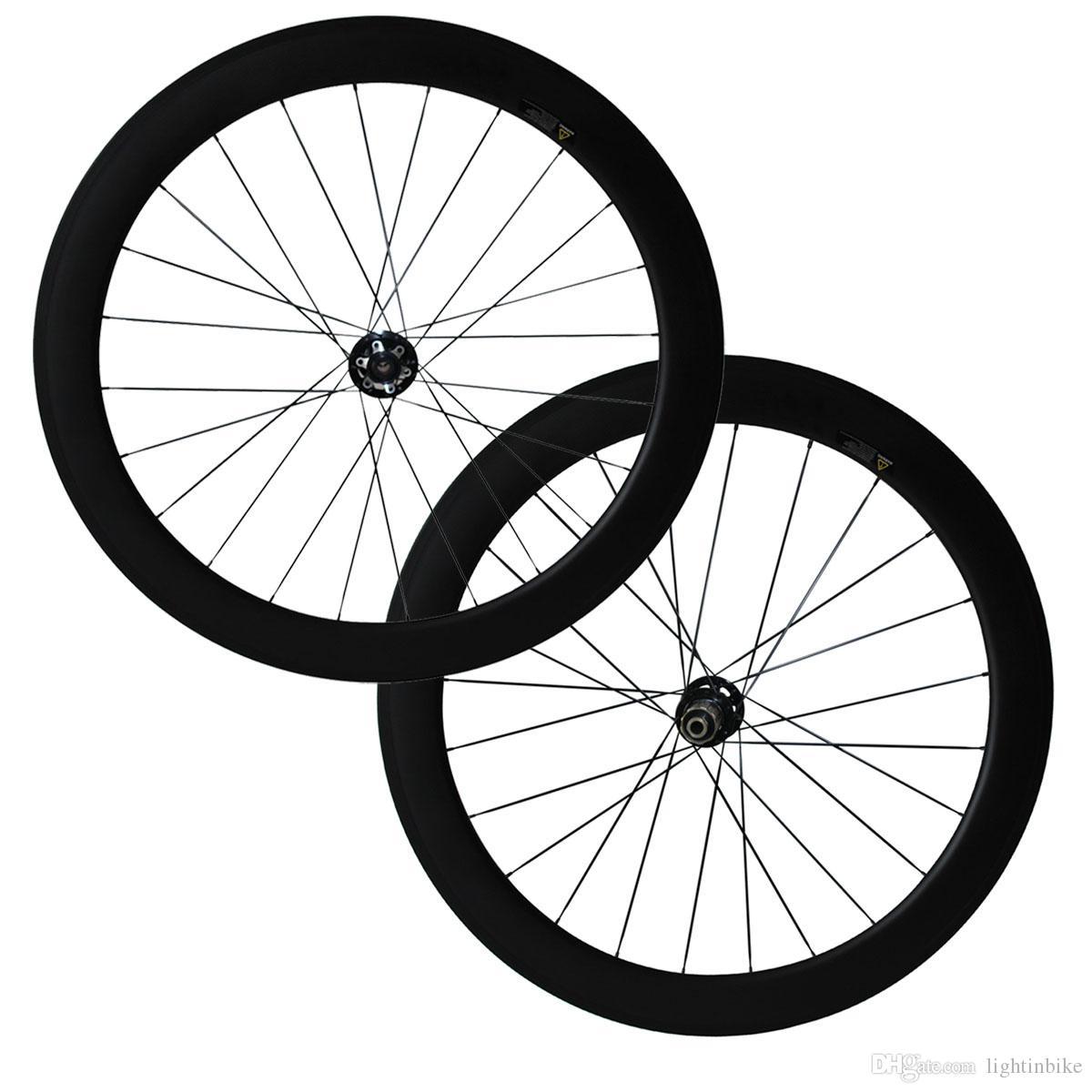80mm Disc brake Road bike Wheel Carbon Rear Rim Clincher 700C Matt Race 6 bolts