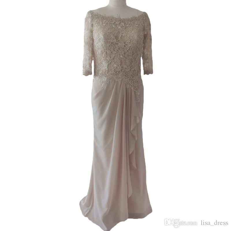Zuhair Murad robes de soirée 2020 dentelle transparente mère de la mariée / Groom Robes formelles Robes de soirée arabe Manches longues