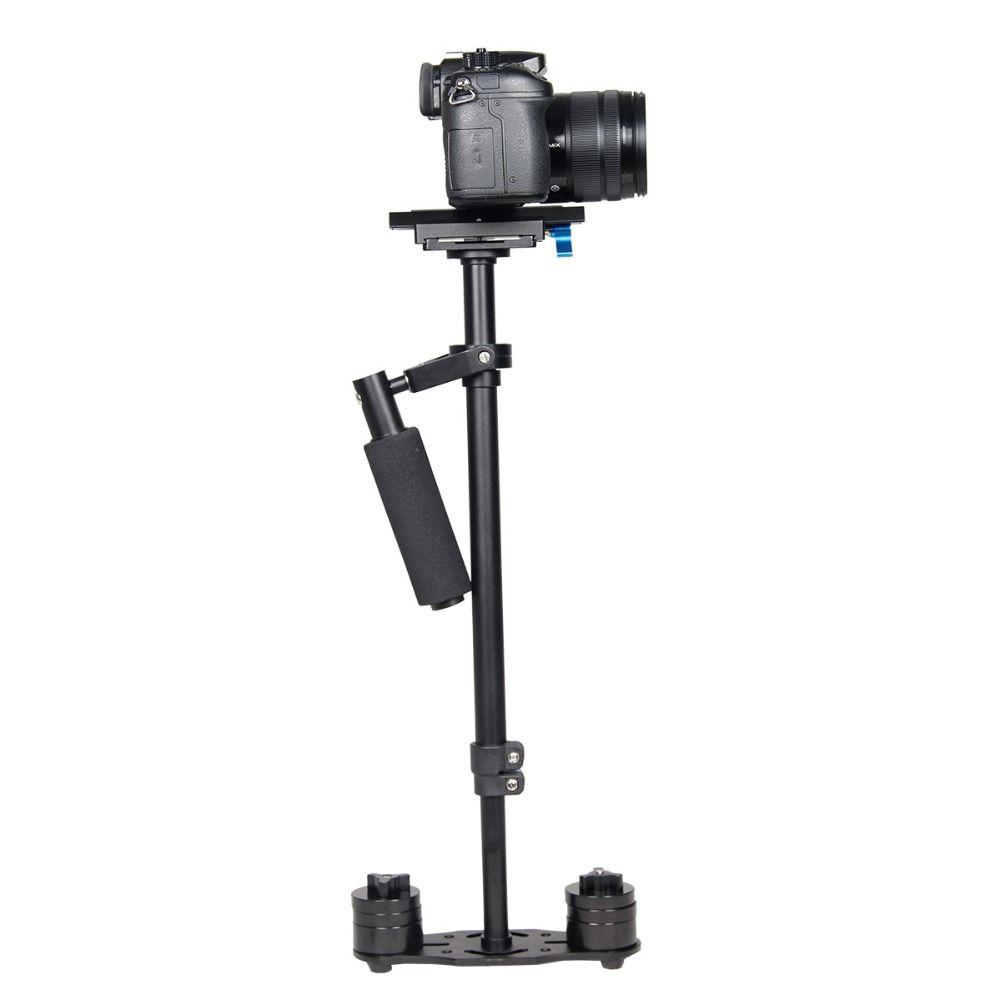 YELANGU S60L Stabilizzatore per fotocamera in lega di alluminio di alta qualità Regolabile 61 cm Steadicam per Canon Nikon Sony DSLR Camera