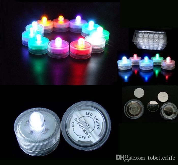 Подводные огни Светодиодные свечи Свет Погружной чай Водонепроницаемый Свет свечи Подводный чай свет Sub Свет батареи Водонепроницаемый Night Light