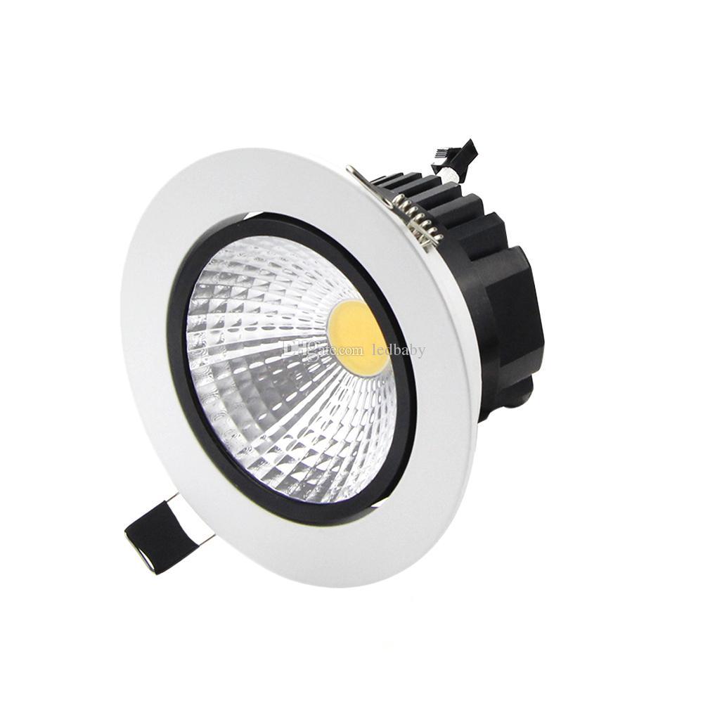 vente en gros Dimmable LED Plafonnier Downlight 6w 9w 12w 15w LED Downlight encastré lampe de lumière de tache 110v ou 220v