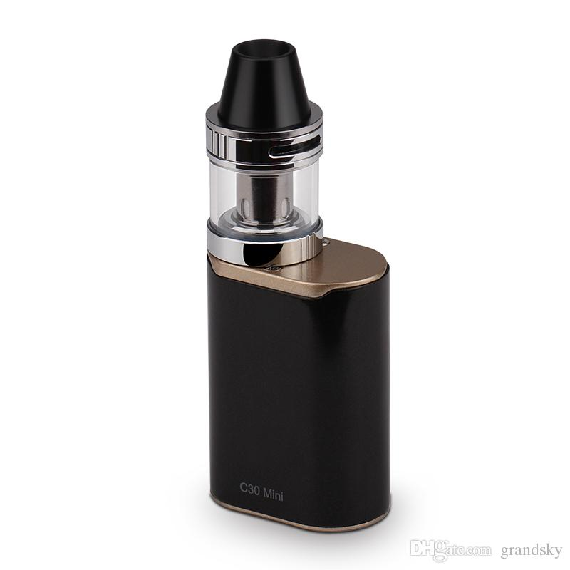 Hot ECT C30 Mini Met with 2ml Kenjoy Met Atomizer 1200mAh ECT C30mini Battery E cigarette Starter Kit Battery Mode 18650 DHL