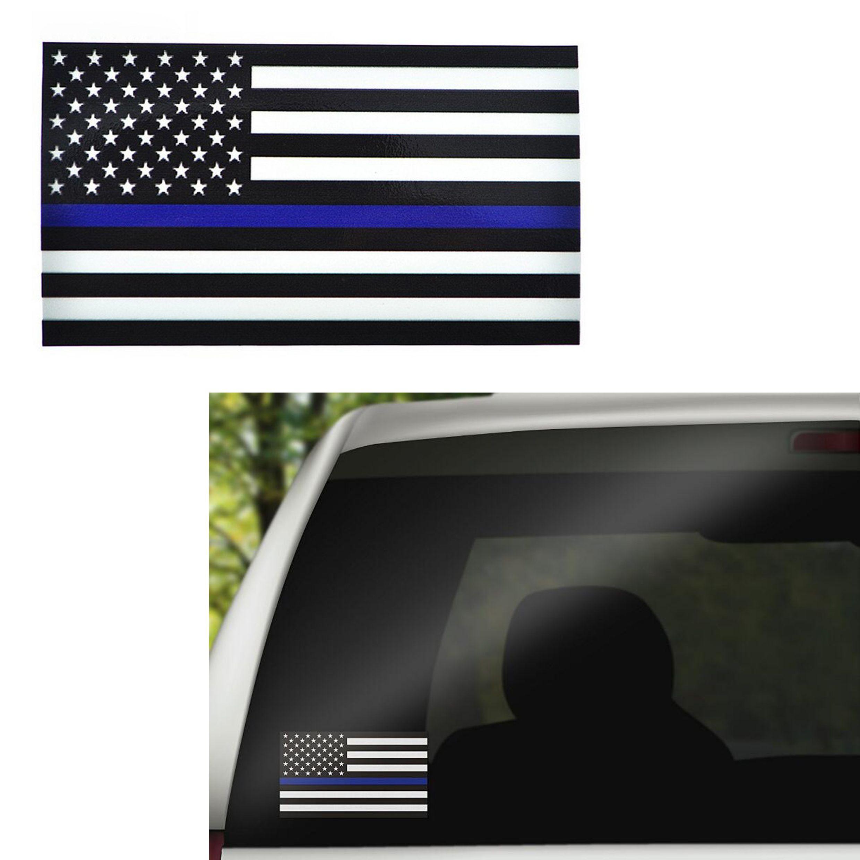 رقيقة الأزرق الأحمر الخط usa flag شارات لاصقة للسيارات شاحنات الكمبيوتر - 6.5 * 11.5 سنتيمتر الولايات المتحدة العلم صائق ملصقات نافذة السيارة
