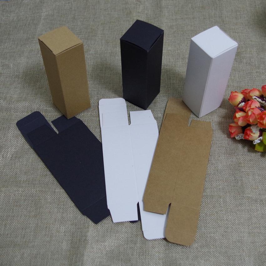 100 teile / los kostenloser versand 10/20/30 ml / 50/100 ml öl tropfflasche kraftpapier Verpackung Box DIY Lippenstift parfüm verpackung box für rohre
