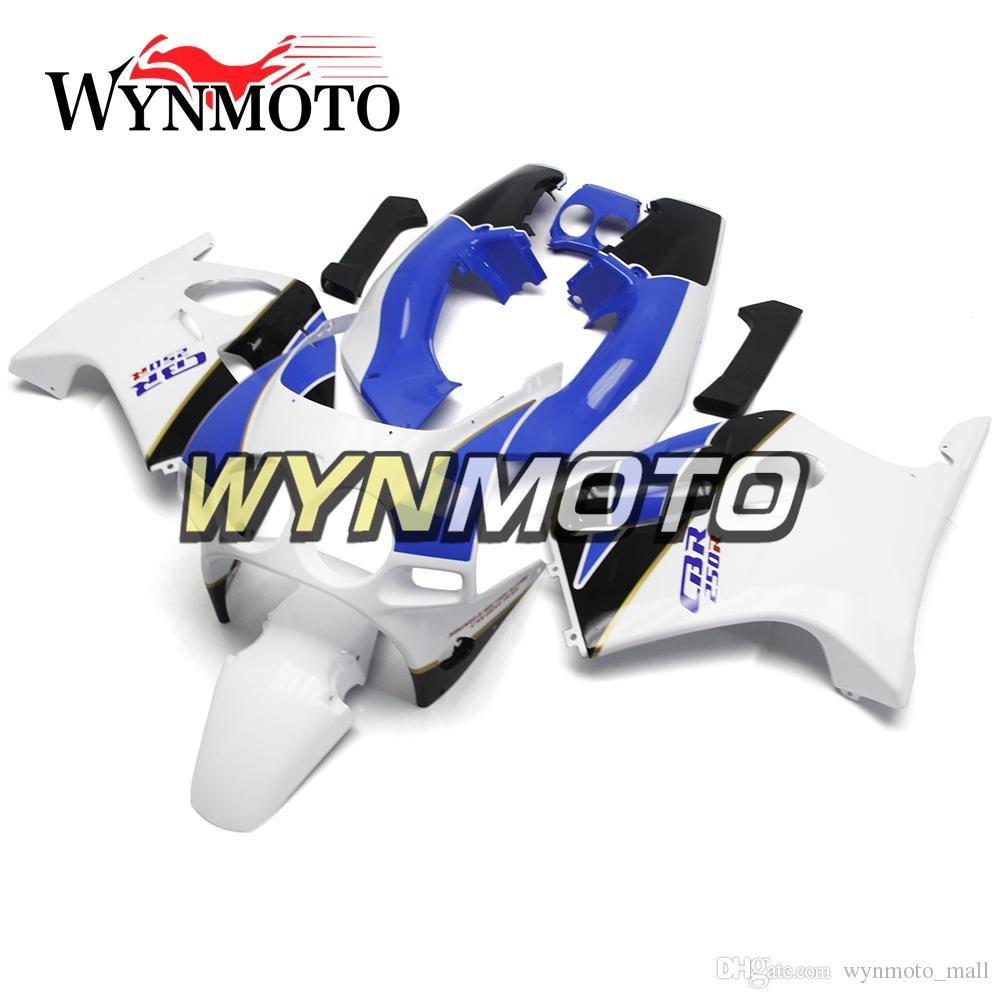 Motorcycle Plastics ABS Injection White Pale Blue Black Covers New Fairings For Honda CBR250RR MC19 Year 1988 1989 Full Fairing Kit Bodywork