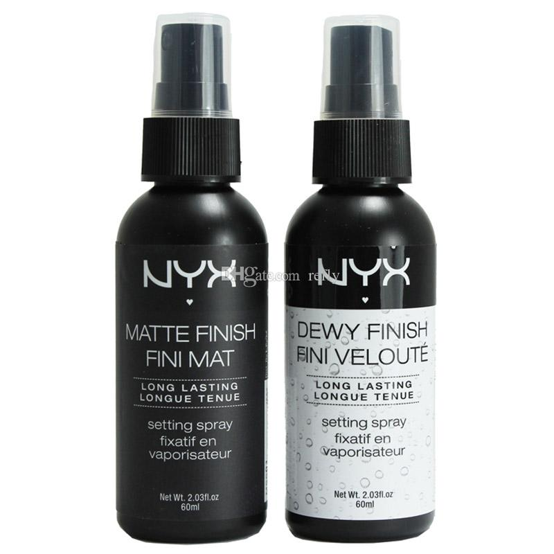 NYX Dewy Finish Matte Finish Makeup Setting Spray Long lasting Setting Spray 60ML Face Beauty DHL Shipping
