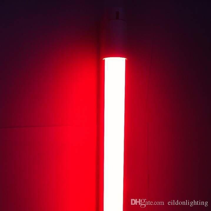 T8 LED 튜브 RGB 2피트 3피트 4피트 G13 통합 DC24V AC100-240V 컬러 라이트 어댑터 RF 중국 공장에서 리모콘 전구 램프 직접