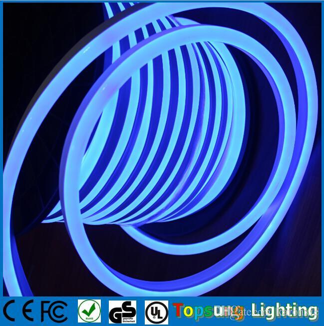 50メートル(164 ')スプールSMD2835シングルカラー14 * 26mm LEDネオンフレックス220V / 110V 8W / M LEDデコレーションネオンストリップ2年保証+送料無料
