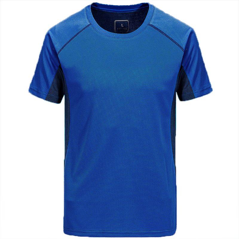 رجل نمط تنفس قميص التجفيف السريع الرياضية