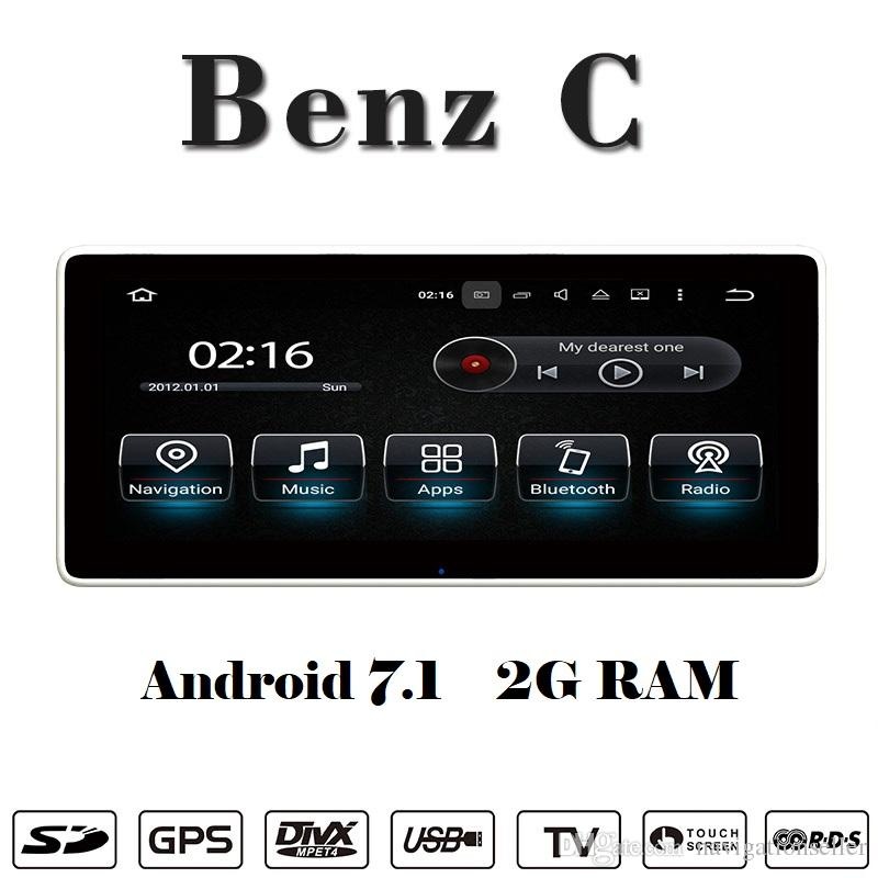 10.25 inch Android 8.0 Car DVD Player car stereo navigation For Mercedes Benz C W205 2015-2017 support carplay Wifi GPS BT Radio Mirrolink
