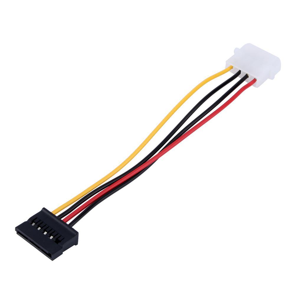 Бесплатная доставка 20 шт. Serial ATA SATA 4 Pin IDE до 15 Pin HDD адаптер питания кабель жесткий диск адаптер мужской женский кабель